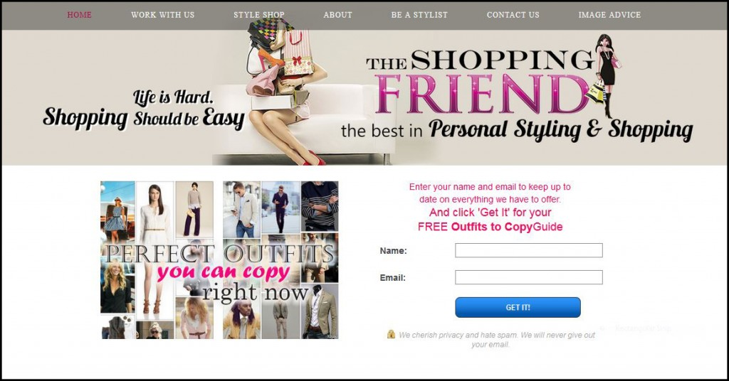 My personal styling business's website - The Shopping Friend